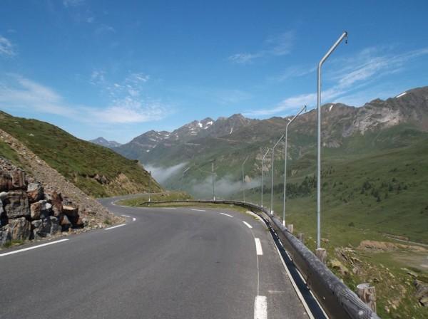 Dans la descente du col du Tourmalet