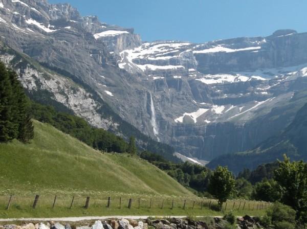 La cascade de Gavarnie, une des plus haute d'Europe et une chute de 423m