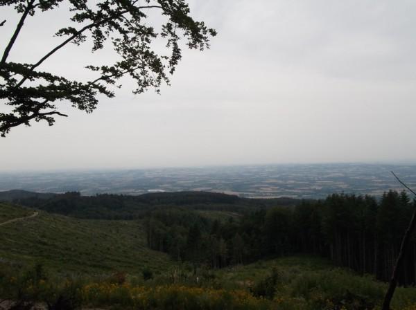 Magnifique vue sur la plaine tarnaise dans la descente