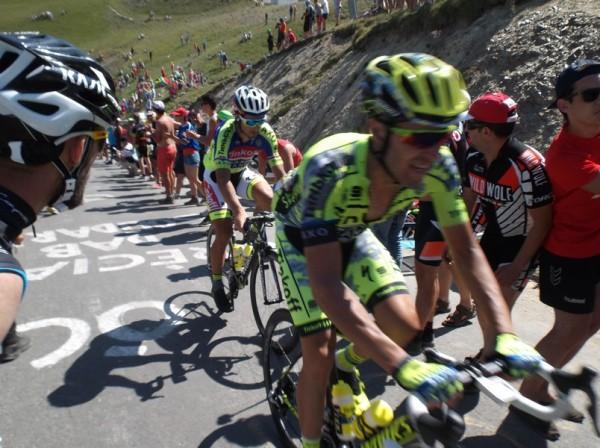 Sagan dans la roue d'un de ses équipiers. Il reprendra le maillot vert.