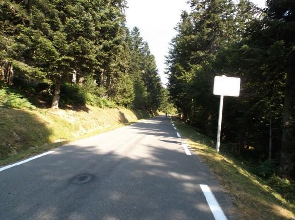 En passant à 4 km du sommet.