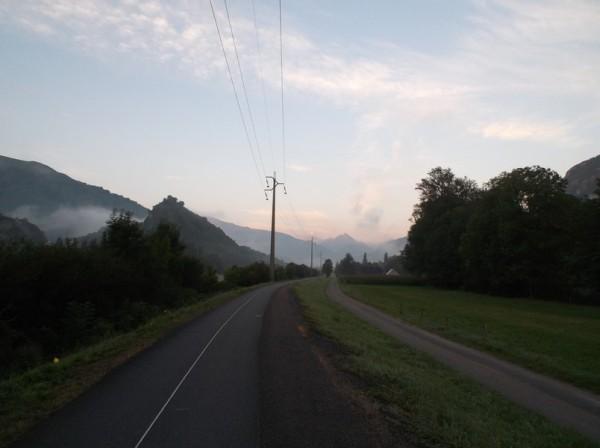 La brume matinale s'estompe petit à petit.