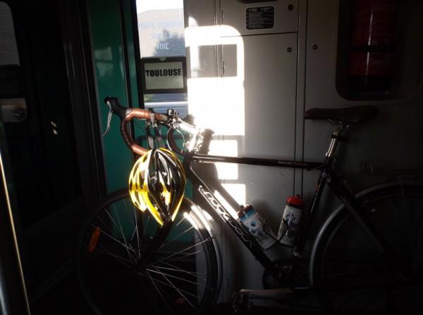Dans le train entre Tarbes et Lannemezan.