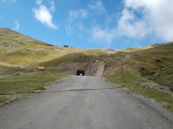 L'entrée du tunnel.