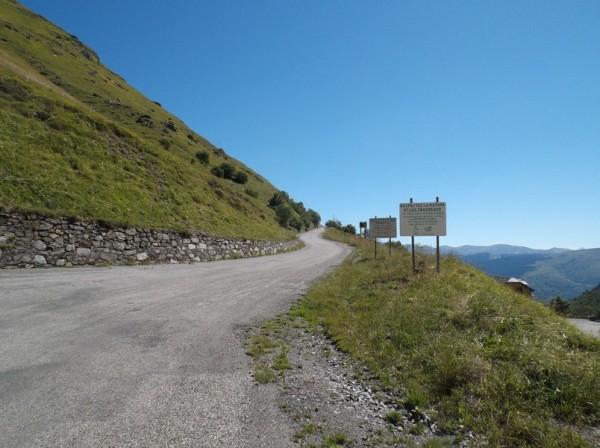 La route du col du Portet.