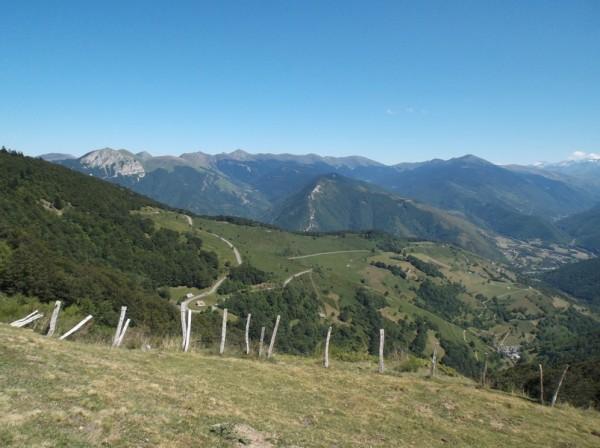 Vue sur le versant Arreau que je viens de grimper.