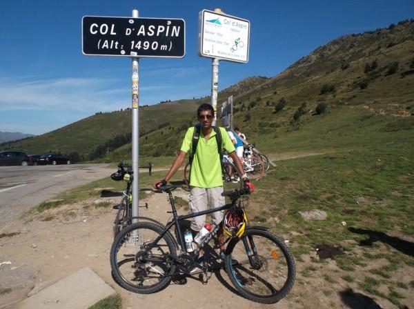 47e ascension du col d'Aspin ! La première pour le VTT, 8e vélo avec lequel je monte en haut.