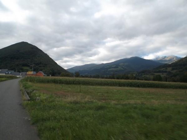 Vallée de Campan après avoir passé Bagnères.