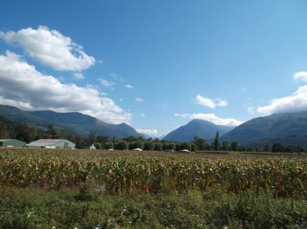 Vue sur le massif du Hautacam après avoir passé Argelès.