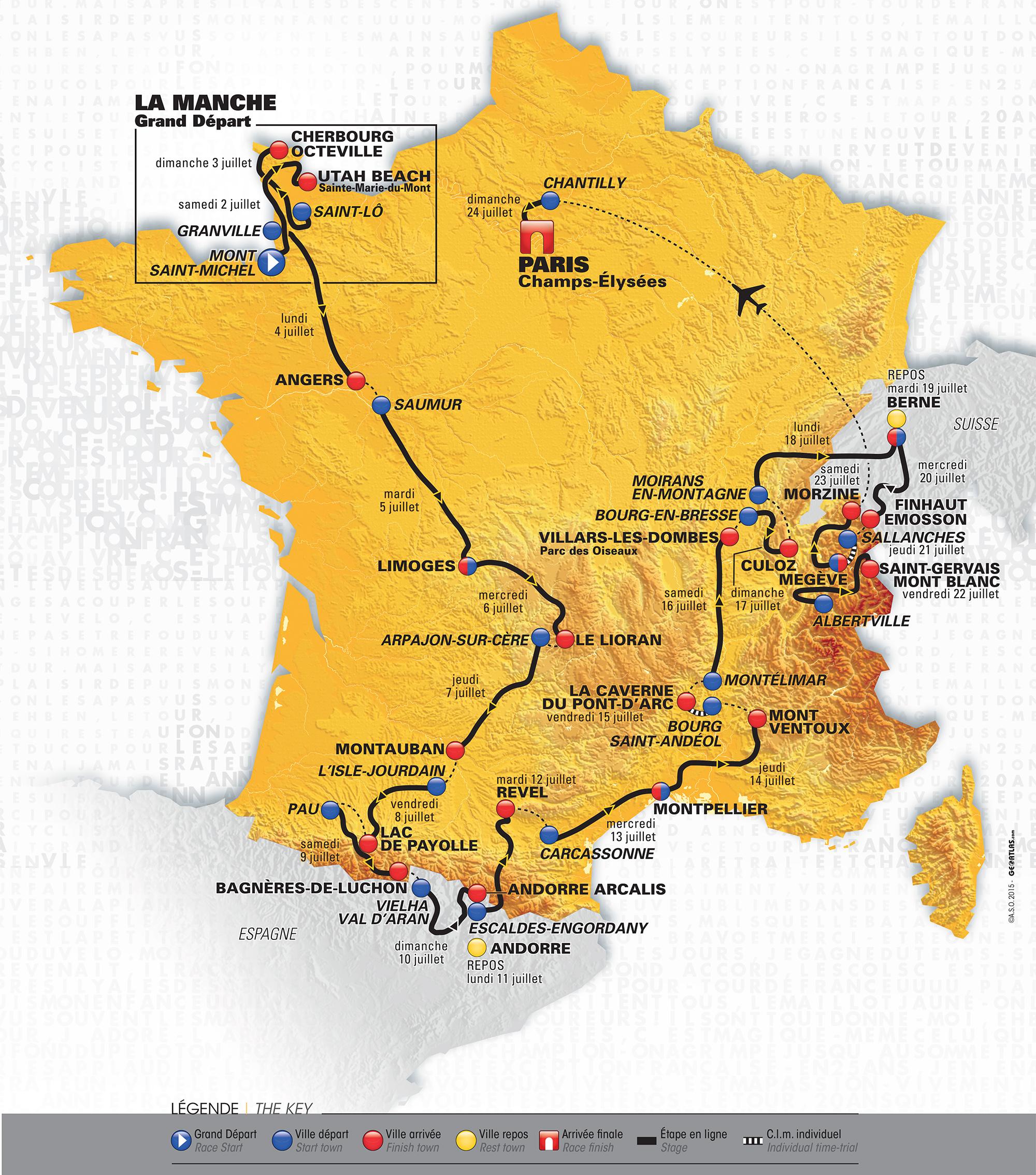 Parcours du Tour de France 2016