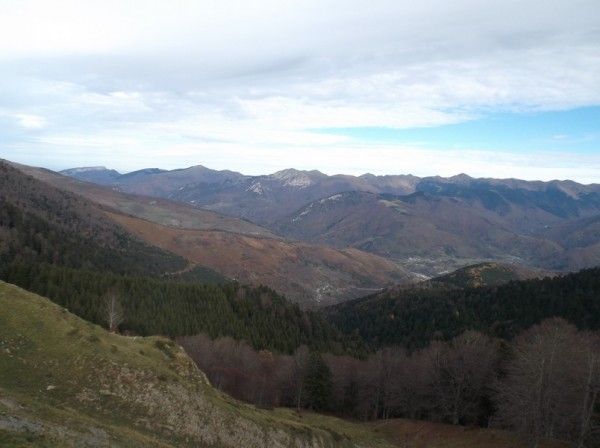 Vue côté vallée d'Aure.