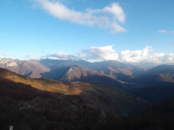 Vue depuis le sommet côté vallée d'Aure.