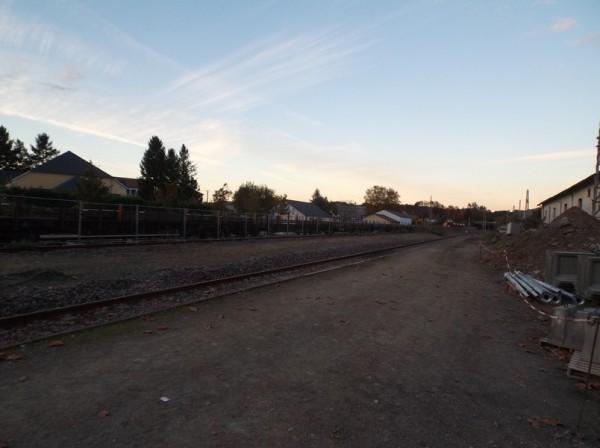 A la gare d'Oloron.
