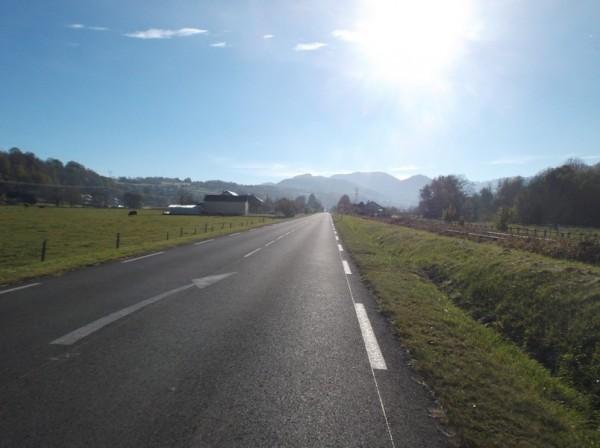 La ligne droite qui précède Bagnères.