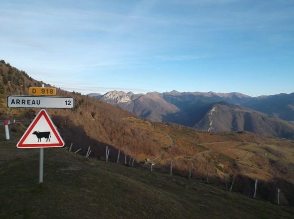 Au sommet du col, vue côté vallée d'Aure.