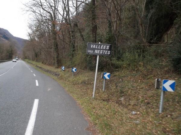Dans la vallée d'Aure en direction de Arreau.