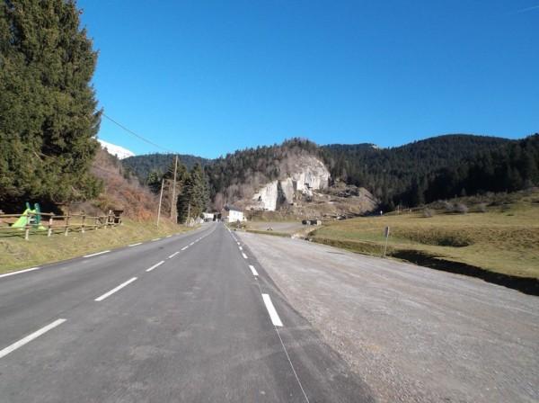 La carrière de marbre à l'entame des 5 derniers kilomètres.