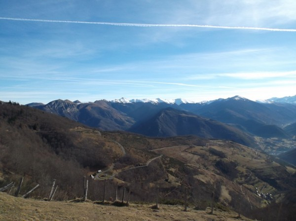 Vue superbe sur le versant Arreau.