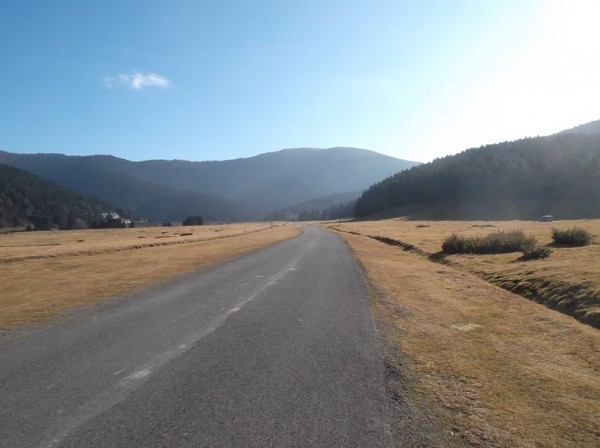 Traversée du plateau de Payolle.
