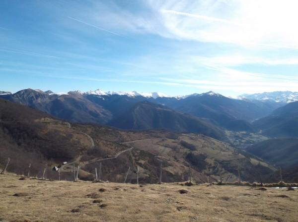 Vue sur le versant Arreau.