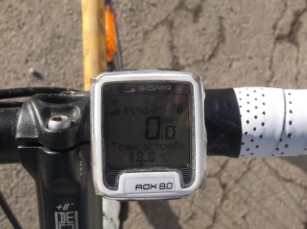Presque 19°C à 1490m d'altitude !