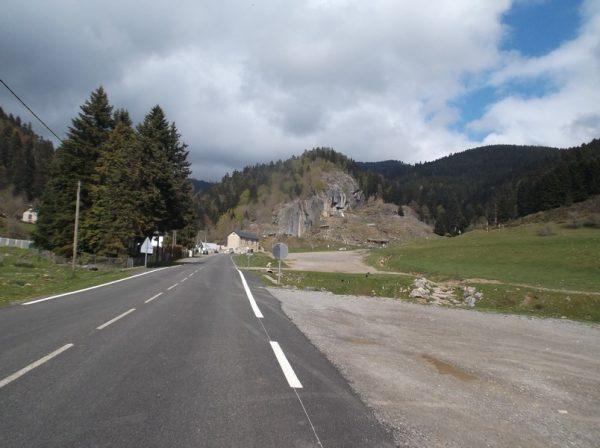 La carrière de marbre au moment d'aborder les 5 derniers kilomètres.