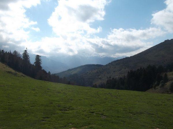 Vue côté Pic du Midi de Bigorre qui est dans les nuages.