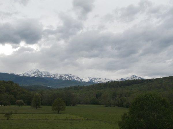 C'est parti dans les Baronnies sous l'oeil des Pyrénées.