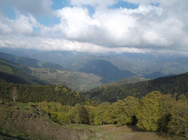 Vue sur la vallée d'Aure.