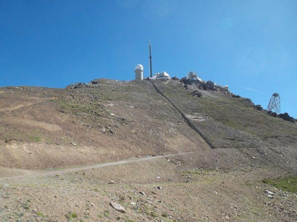 Vue sur le sommet à l'endroit où m'a attendu le vélo.
