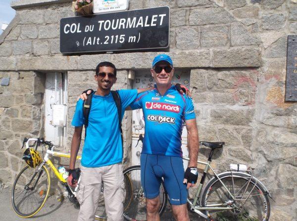 Au sommet avec Romu pour notre 2e ascension commune !