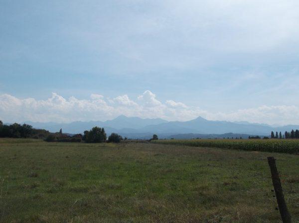 Petit regard sur les montagnes à 2 km de la fin.