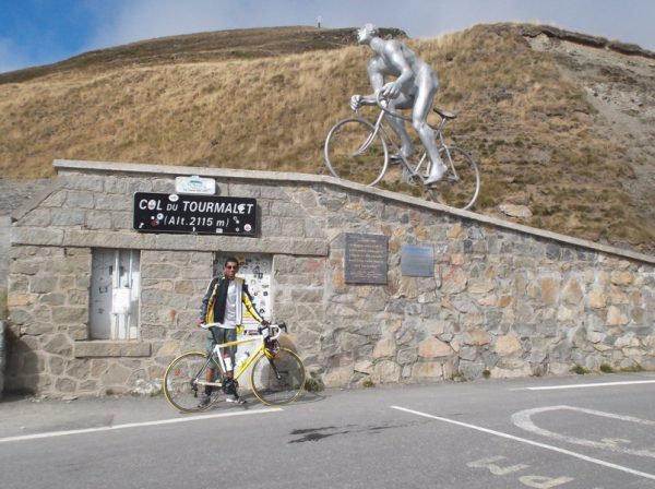 36e fois que je grimpe le col du Tourmalet. J'adore !!