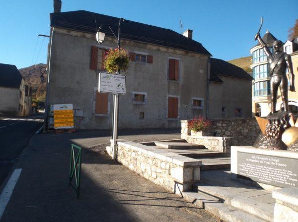 A Sainte Marie de Campan, au pied du col du Tourmalet !!